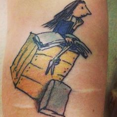 Granted, most parents probably aren't hoping, when they read to their kid in bed, that he/she grows up and gets a tattoo of the book they're reading. But some of these are pretty incredible! (And quite a tribute to the power of books.)