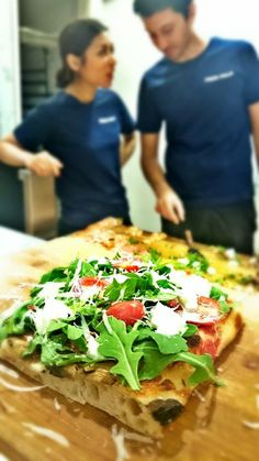 we are super serious on our pizza. / Rocket and buffalo cheese