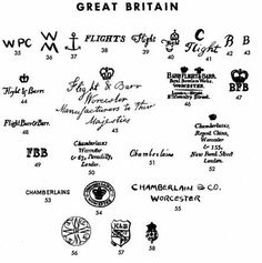 Pottery & Porcelain Marks - Great Britain - Pg. 32 of 380