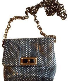 184d184d6a Happy Mini Pop Blue and Cream Python Skin Leather Cross Body Bag