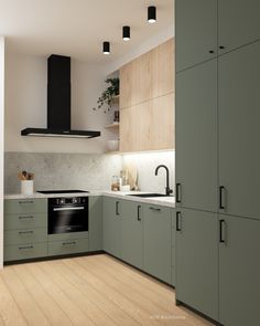 Kitchen design for a project in Amsterdam. The studio is only 45 and needs all the comfort it can get. This kitchen is small, but beautiful. Kitchen Room Design, Modern Kitchen Design, Kitchen Interior, Home Interior Design, Kitchen Decor, Kitchen Living, New Kitchen, Cocinas Kitchen, 139