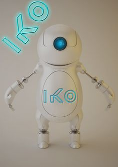 and lastly, as of 9:37pm PST on 8/31/13, a cute captioned pic of Iko, everyone's favorite robot. I chose that font specifically so I could make it look as if her name had been engraved on her stomach.