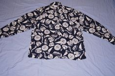 Vintage 1980's -  Talbots Silk Nautical Silk Shirt by TheMercerStreetHouse on Etsy