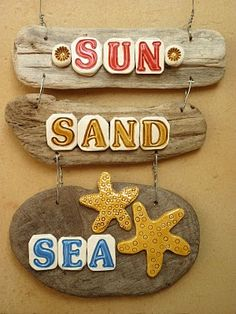 Cute driftwood signs