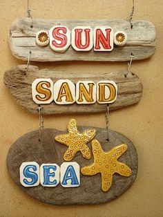 Cute driftwood signs @Courtney Ellis