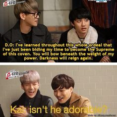 KaiSoo // EXO :D <-- I feel like these captions are actually really accurate...