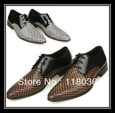Aliexpress.com   Buy Braided leather retro British men s business casual  shoes pointed woven fashion 95e95947de6b