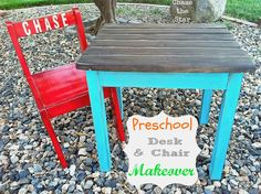 Chase the Star: {Pre}School Desk and Chair Makeover
