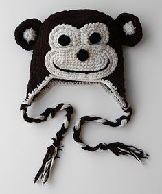 Brown Monkey Earflap Beanie | Daily deals for moms, babies and kids