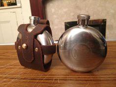 round hip flask pouch