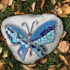 Butterfly Rock Mosaic by Heidi Main