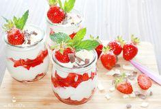 Frische Erdbeeren in einem Dessert sind herrlich, besonders schmackhaft in der Kombination mit einer leckeren Mascarponecreme...