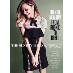 Thandie Newton wearing our upcoming Pre Fall 17's CAPPED SLEEVE MINI DRESS on the cover of Sunday Times Magazine