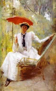 Lady with a Parasol by Tom Roberts, c. 1893