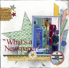"""What's a Newspaper?"" - A Layout Using Geometric Shapes - Scrapbook.com"