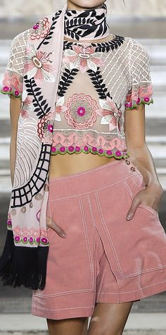 Close-up at Temperley London Spring 2016 RTW.