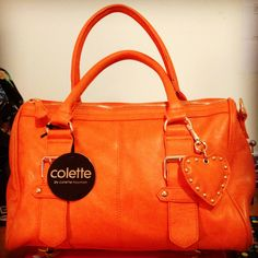 Orange Buckle strap Barrel colette hayman handbag $49.95