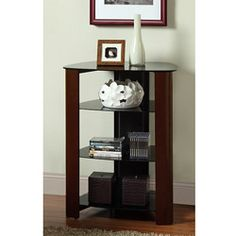 @Overstock - This 35-inch-high audio component rack gives you plenty of room to organize your audio receiver, media players, speakers, remotes, and discs. Its black espresso powder-coated steel frame and trendy tempered glass shelves look great in your living room.http://www.overstock.com/Home-Garden/Audio-Component-35-inch-Tower-with-Espresso-Wood-Accents/6284309/product.html?CID=214117 $209.99