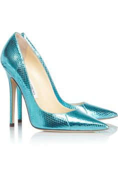 c8b8c6aa8ab Jimmy Choo - Anouk metallic watersnake pumps