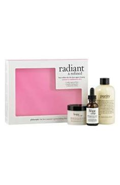 philosophy radiant and refined skincare kit 3 pieces -