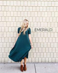 Easy Dress in Emerald | ROOLEE