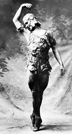 Nijinsky, the only man to wear pointe shoes. Here as the Rose.