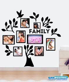 8c9e6c889 ADESIVO DECORATIVO DE PAREDE Adesivo Decorativo de Parede Árvore Para Fotos  Porta Retrato Tamanho  95x100