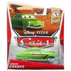Disney Pixar Cars, Retro Radiator Springs Die-Cast, Edwin Kranks #7/8, 1:55 Scale