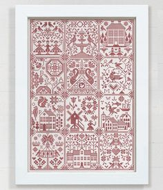Hope: Mystery SAL 2019 (all 12 parts plus bonus part Cross Stitch Love, Cross Stitch Samplers, Counted Cross Stitch Patterns, Cross Stitching, Poems Beautiful, Folk Embroidery, Pretty Patterns, Le Point, Blackwork