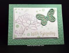 Stampin' Up! Sympathy card made with You've Got This stamp set and designed by Demo Pamela Sadler. See more cards at stampinkrose.com #stampinkpinkrose #etsycardstrulyheart