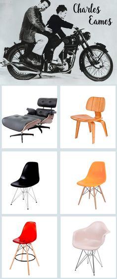 Uma amostra da linha Charles Eames, poltronas, cadeiras mesas e puffs para todos os gostos, resumindo decorar fica muito mais divertido e interessante quando se tem peças como essas! Visite nosso site e veja muito mais!