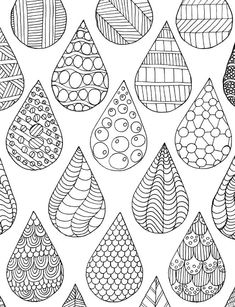 Sketch Book drops coloring page - Zentangle Drawings, Doodles Zentangles, Zentangle Patterns, Doodle Drawings, Doodle Art, How To Zentangle, Zen Doodle Patterns, Zentangle Art Ideas, Patterns To Draw