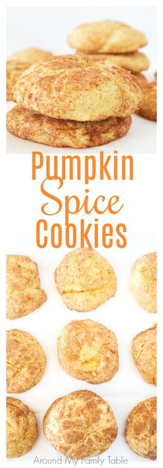 Add this Pumpkin Spice Cookie Recipe to your holiday plans now! They are soft and delicious and get a hit of flavor from the extra cinnamon and sugar.