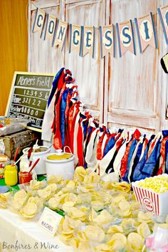 Bonfires and Wine: Vintage Baseball Baby Shower Baby Shower Parties, Baby Shower Themes, Baby Boy Shower, Shower Ideas, Baby Shower Sports, Baseball Themed Baby Shower, Shower Party, Vintage Baseball Party, Baseball Birthday Party