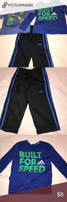 3PC Set Boys 2T Boys Set 2T - LIKE NEW Adidas Matching Sets