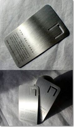 6. Steel Company Business Card: This is business card of steel company. This is actually made up of steel!