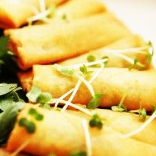 Homemade Low-Fat Vegetarian Baked Spring Rolls Recipe