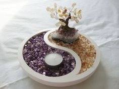 Amethyst & Citrine are powerful crystals for inviting balance and spirituality into your home. Citrine is also known for attracting fortune and abundance.