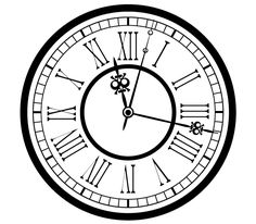 Vintage antique clock vector silhouette - so many uses for this new clock vector!. More Free Vector Graphics, www.123freevectors.com