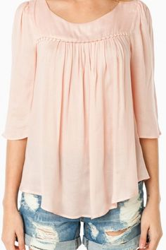 Hollins Blouse in Blush