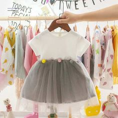 Princess Baby Girl Short Sleeve Dress Party Birthday - #babygirlpartydresses Outfits Teenager Mädchen, Toddler Girl Outfits, Toddler Dress, Kids Outfits, Baby Outfits, Baby Girl Dress Patterns, Baby Clothes Patterns, Crochet Baby Clothes, Cute Princess