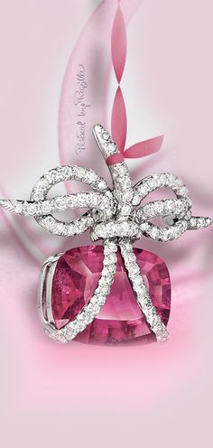 "Regilla ⚜ Rubellite and diamond ""wrapped"" ear clips by Verdura"