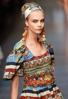 Cara Delevingne for Dolce and Gabbana