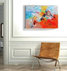Wall art on canvas Original abstract acrylic by GabiGerArt on Etsy