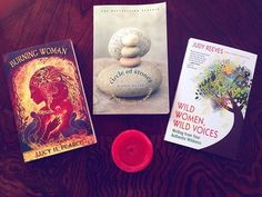 So many books, so little time. These are a few of the #sacredfeminine books currently in my #amreading pile. Yum! ✨ #burningwoman #circleofstones #wildwoman #wildwomenwildvoices #lucypearce #judyreeves #judithduerk