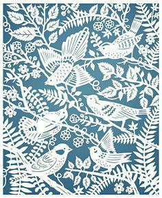 Sarah Trumbauer, Wild Birds (Papercut Illustration)