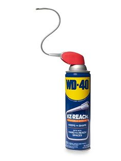 WD-40 can with flexible tube attachment
