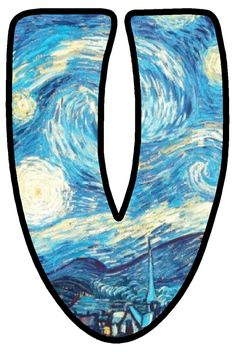 Van Gogh, Classical Art, Alphabet, Surfboard, Symbols, Projects, Art, Auction, Letters