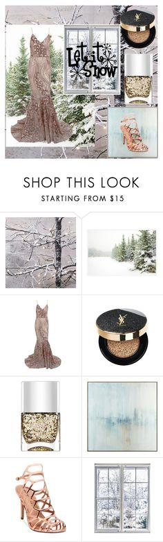 """""""Winter party"""" by szegedizsofia ❤ liked on Polyvore featuring Pottery Barn, Yves Saint Laurent, Nails Inc., John-Richard and Madden Girl"""