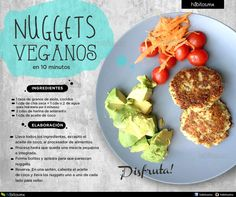 Hábitos Health Coaching | NUGGETS VEGANOS EN 10 MINUTOS Healthy Eating Recipes, Raw Food Recipes, Veggie Recipes, Healthy Snacks, Vegetarian Recipes, Cooking Recipes, Veggie Food, Vegetarian Meatballs, Comida Diy